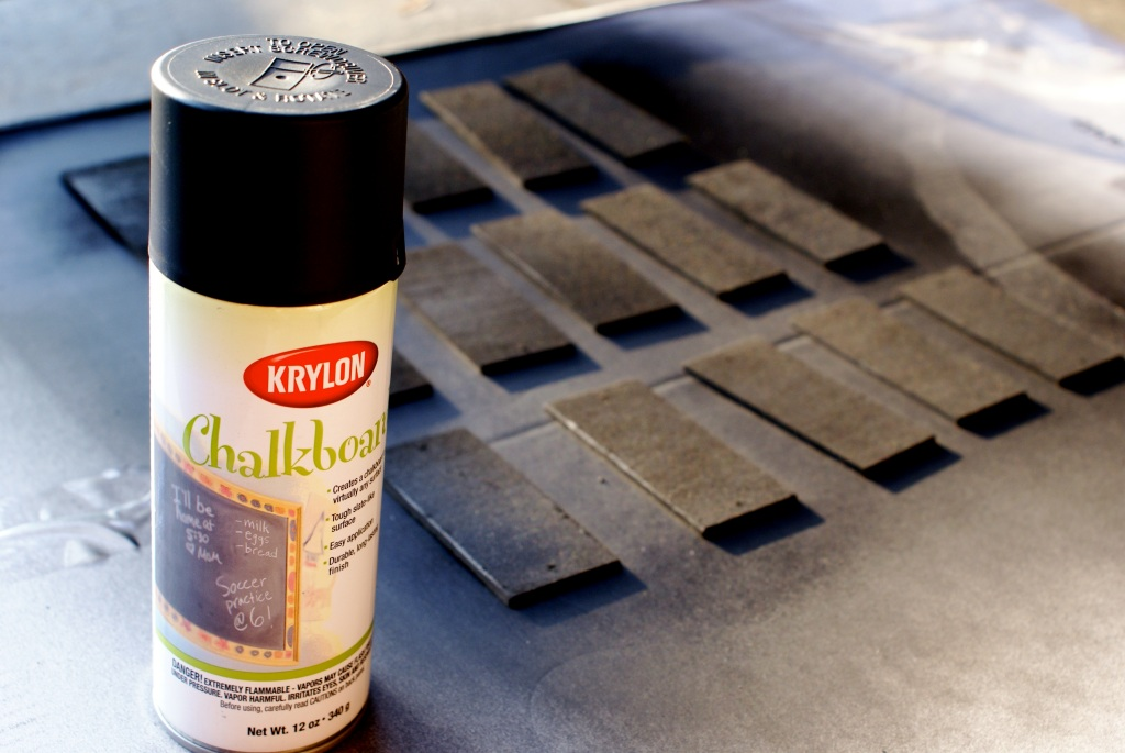 Krylon Chalkboard Paint - several coats on the wooden labels.