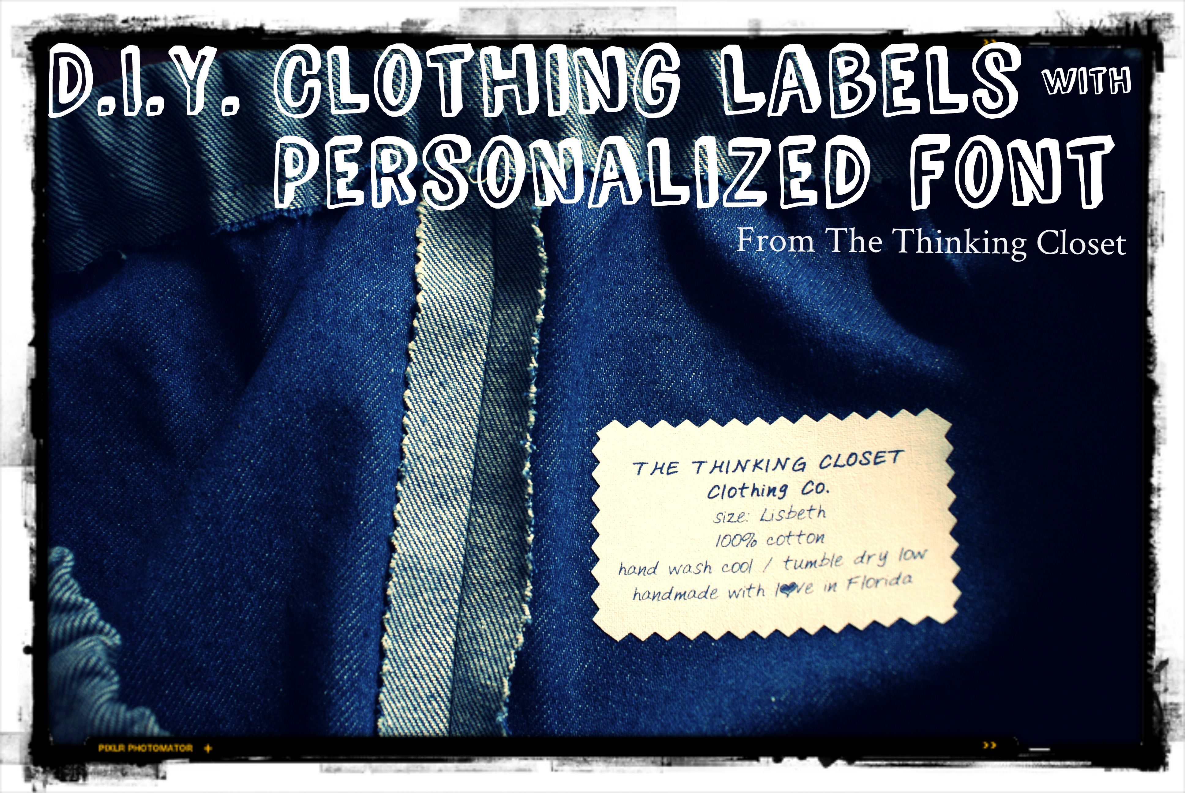 Craft Mash Up Diy Clothing Labels With Personalized Font