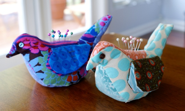 Bird Pincushion & Needle Keep via The Thinking Closet