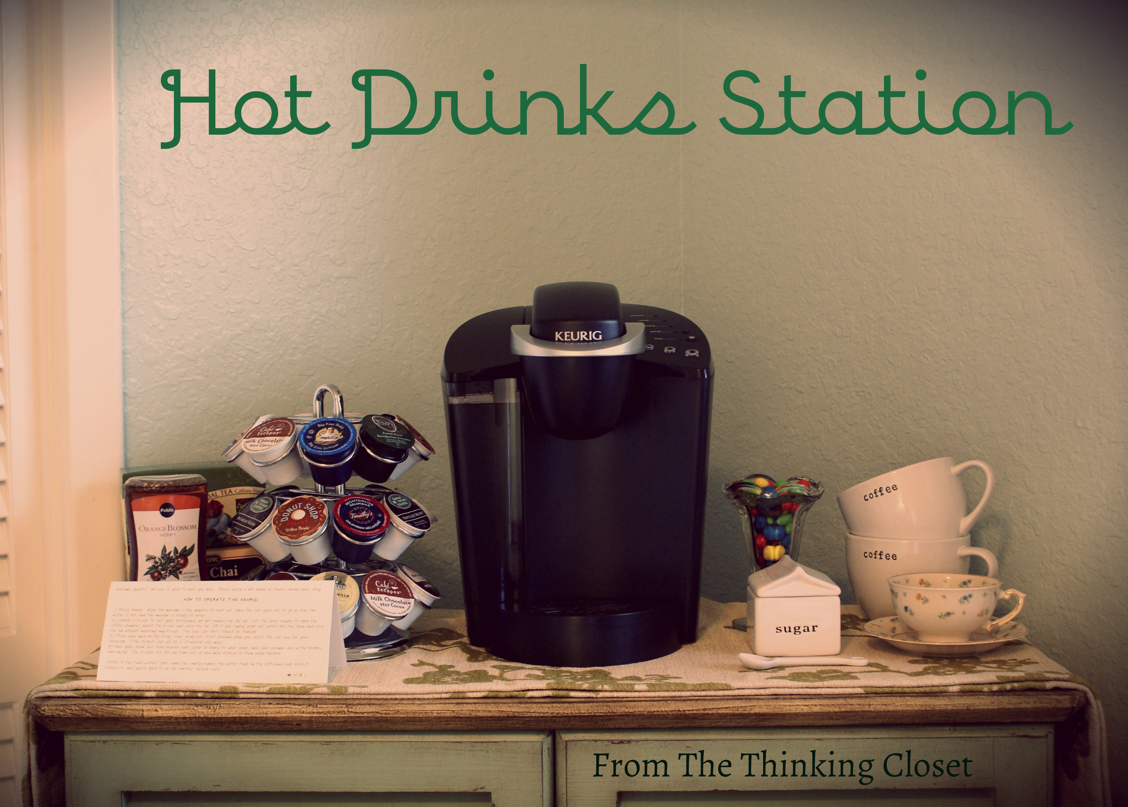 Hot Drinks Station via The Thinking Closet