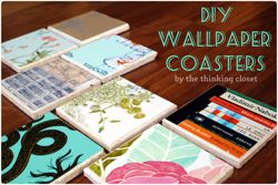 D.I.Y. Wallpaper Coasters via The Thinking Closet
