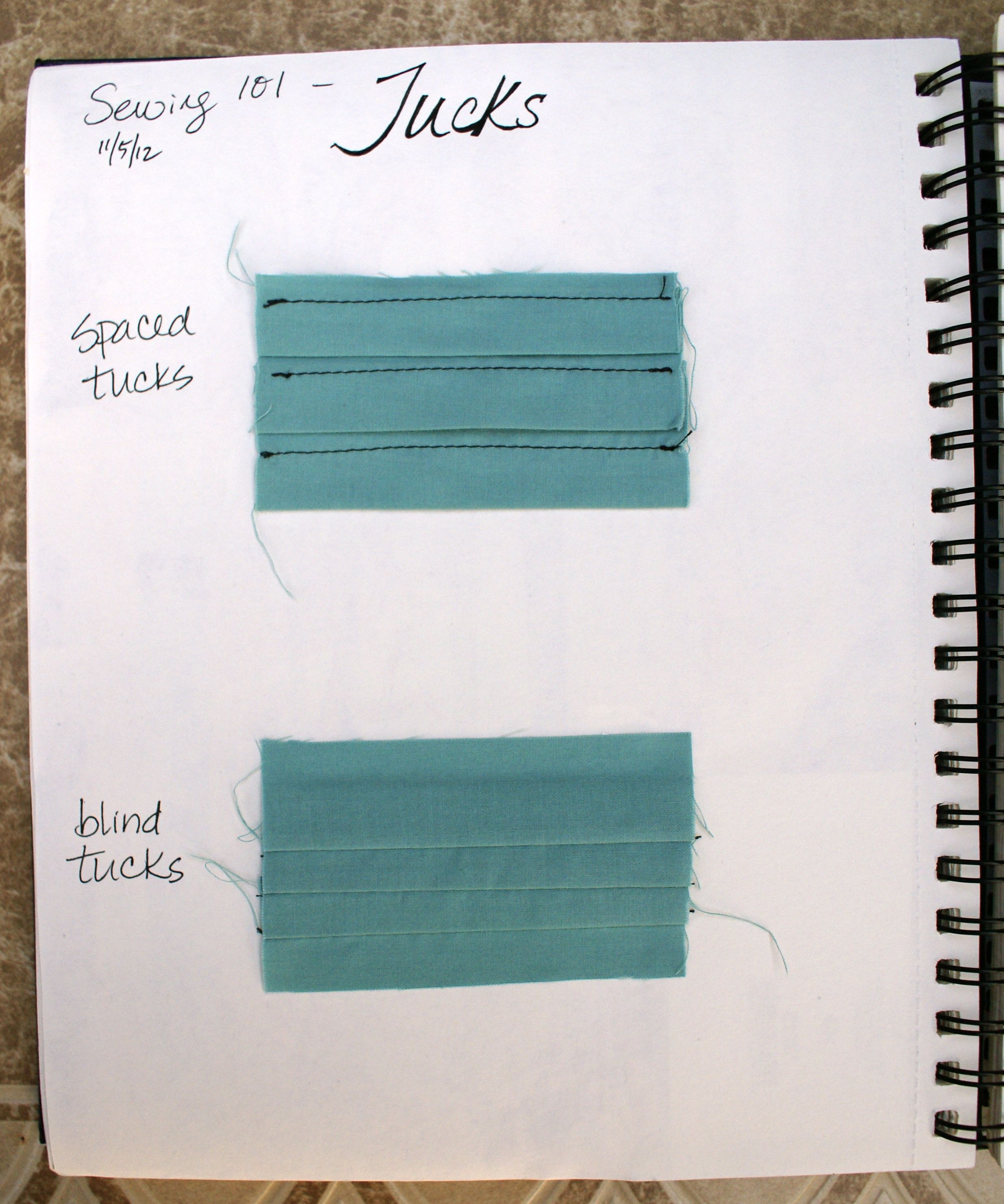 Sewing 101: Tucks via The Thinking Closet