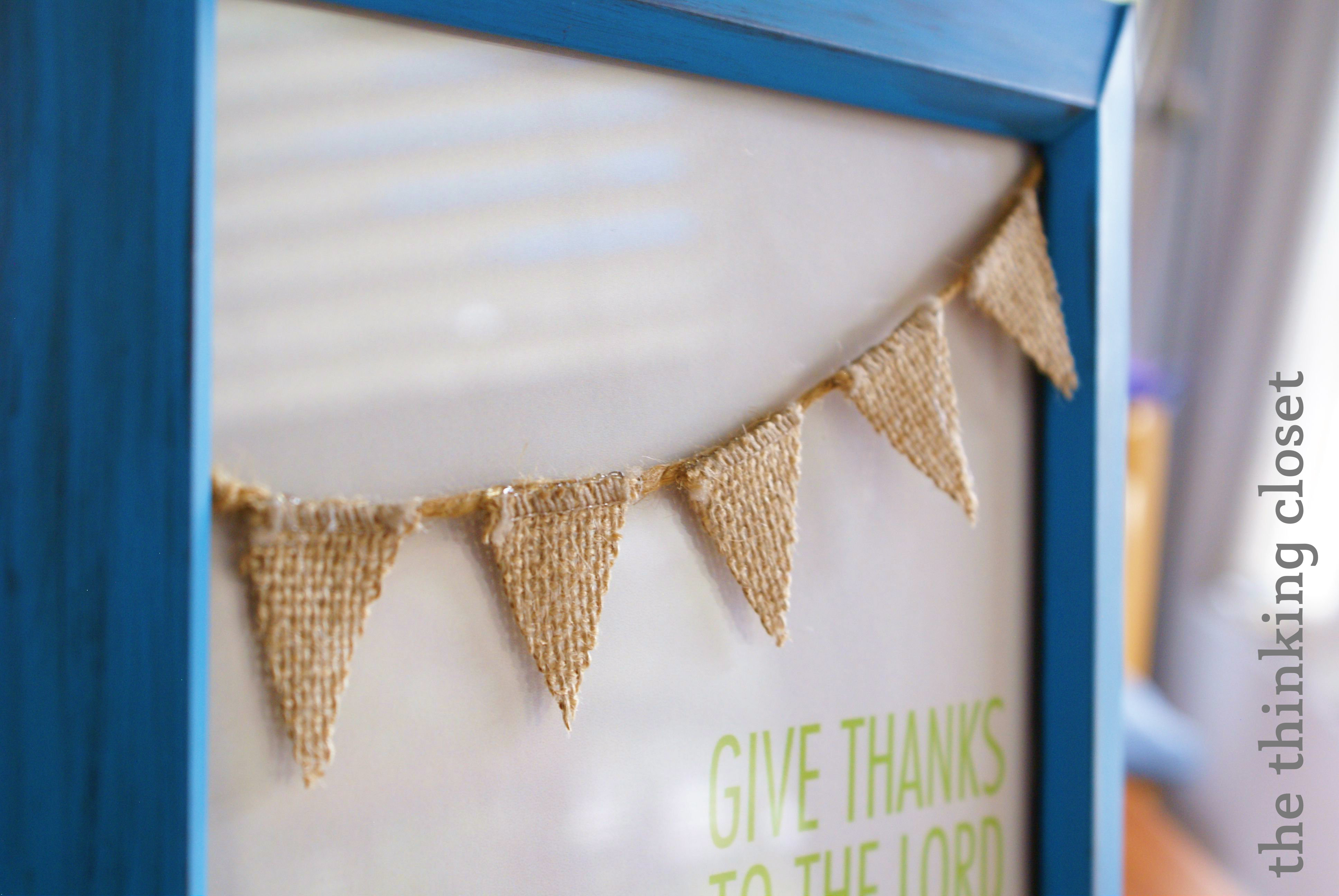 Quick & Easy Thanksgiving Decor via The Thinking Closet