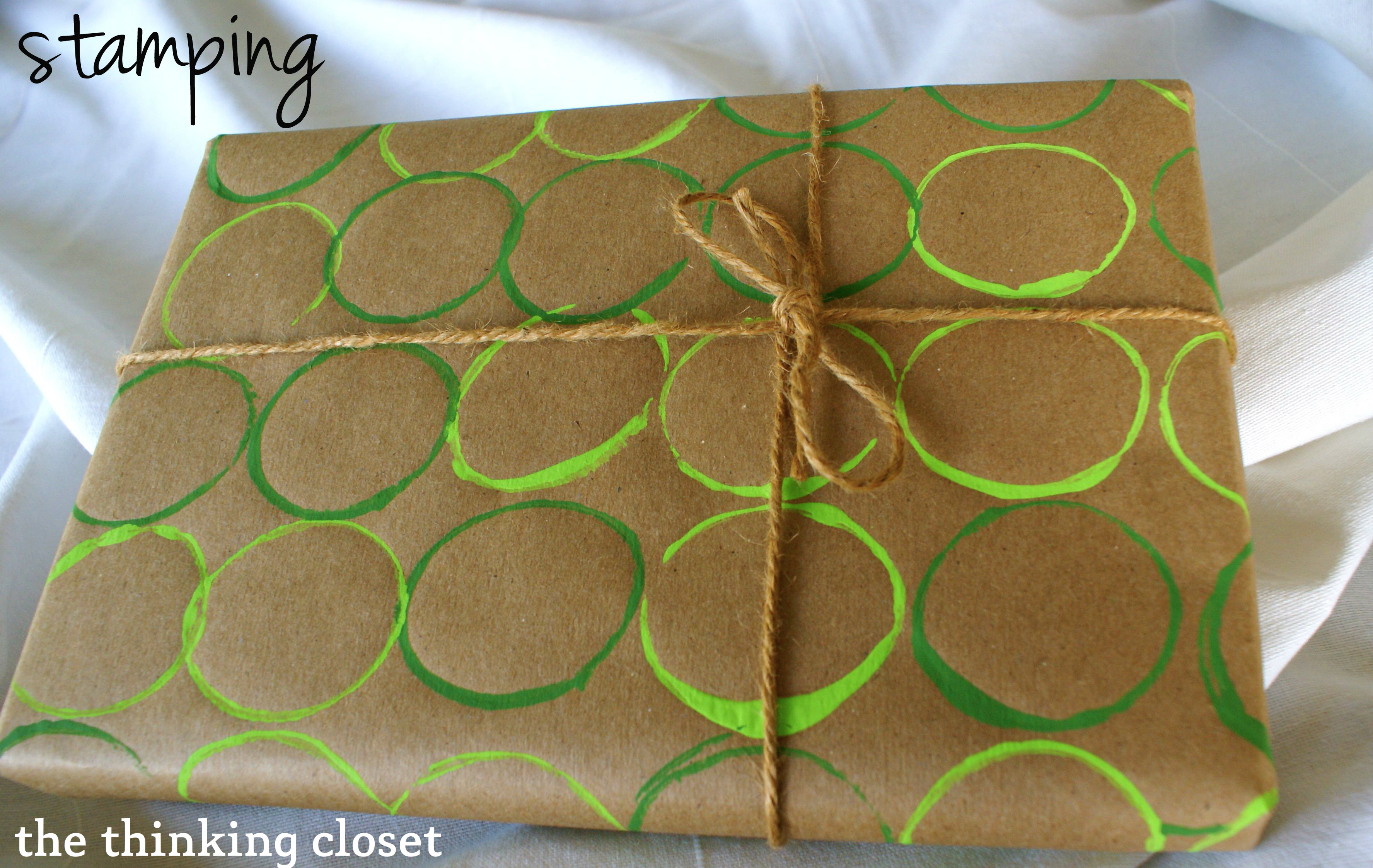 DIY Wrapping Paper Tutorial via The Thinking Closet