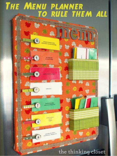 The Menu Planner to Rule Them All via The Thinking Closet - 8 DIY Menu Planner Ideas