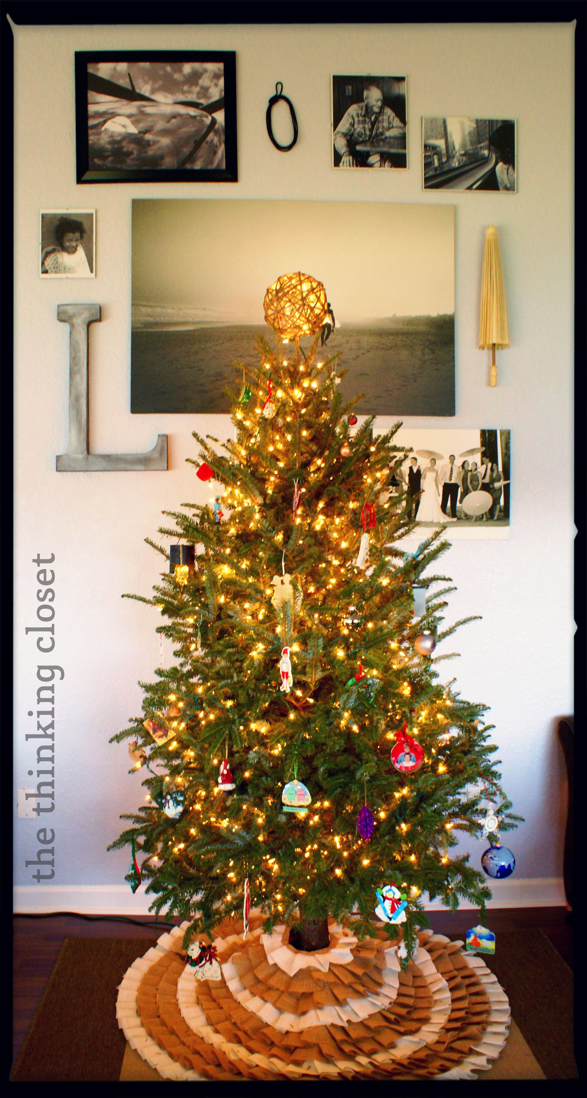 D I Y Twine Ball Tree Topper The Thinking Closet