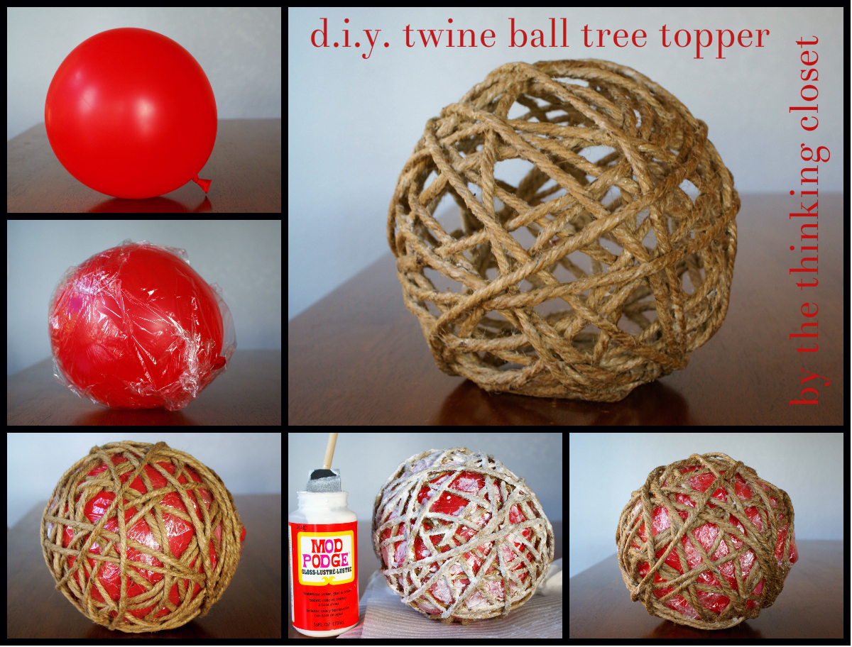 D.I.Y. Twine Ball Tree Topper u2014 the thinking closet