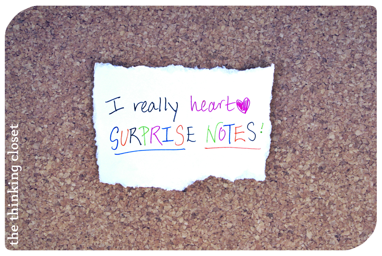 The Art of the Surprise Note - the thinking closet