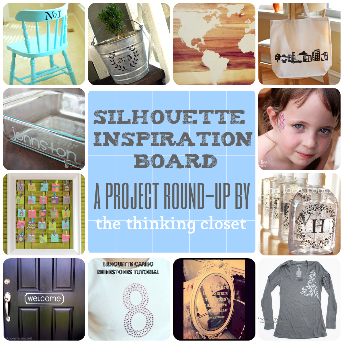 Silhouette Inspiration Board - A Project Round-Up by The Thinking Closet